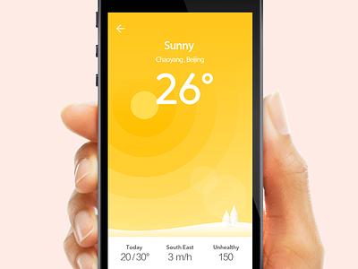 Weather App sunny sun weather app