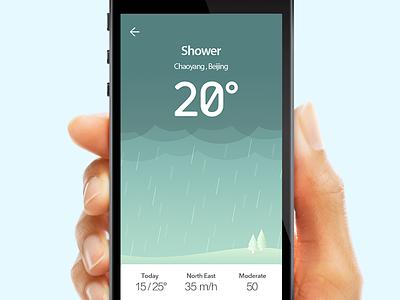 Weather App 2 rainy sun weather app