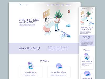 Alpha Reality website (Responsive Design)