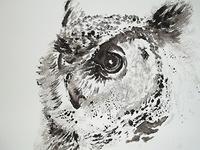 Watercolour mono print