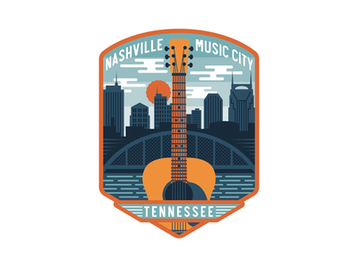 Nashville Guitar Badge