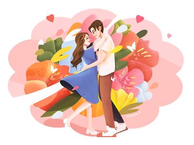 520 520 warm lover 插画 illustration