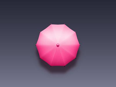 Umbrella pink illustration icon umbrella