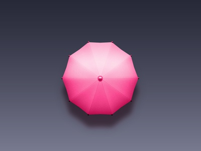 Umbrella pink illustration icon umbrella