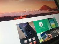 Blog interface