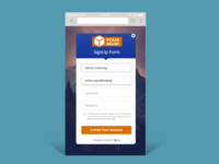 Mobile SignUp  / Daily Ui 001