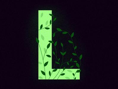 L - Leaves [36daysoftype2020] plant nature leaf leaves typeface l alphabet letter typography type color vector design illustration