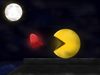 Pacman videogame nintendo nintendo 64 photoshop arcade game games arcade pacman vector brushes illustration design