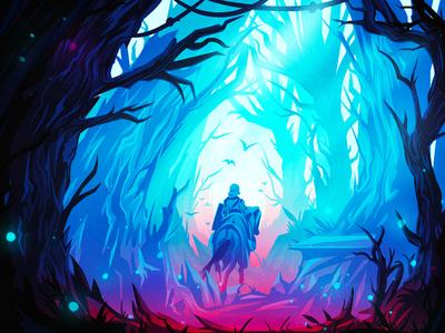 Forest travel-2 illustration