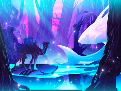 Forest travel-3 illustration