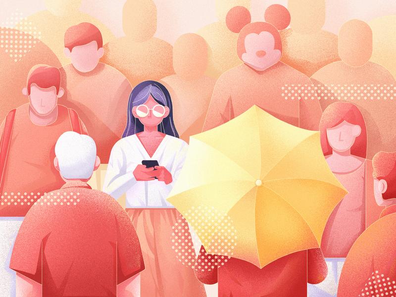 social illustration