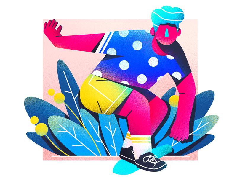The skateboard 插图 illustration