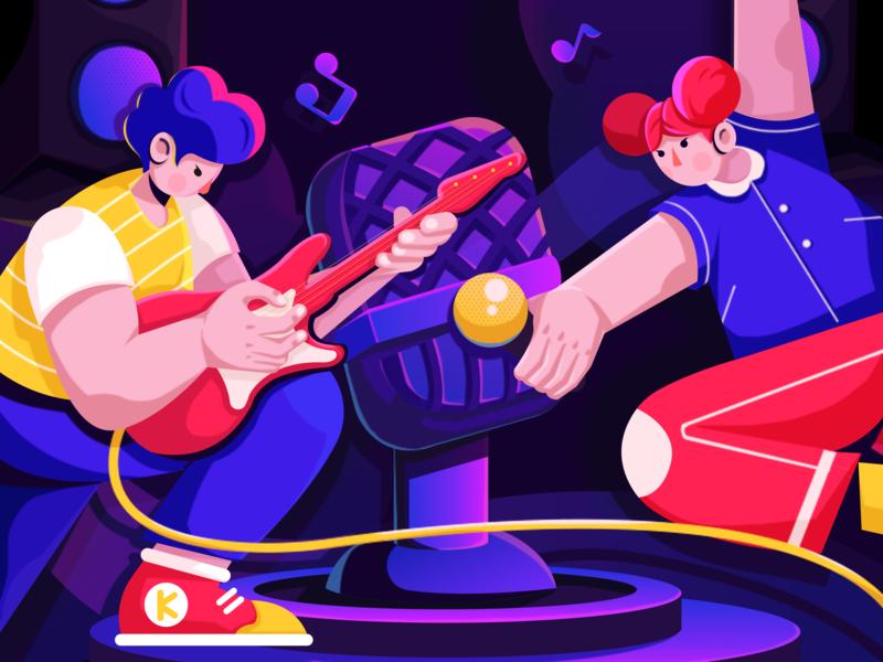 music illustrator illustration 插图