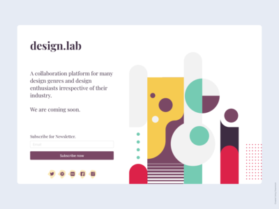 Design.lab Landing page