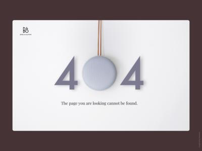 Daily UI 008: B&O 404 Page