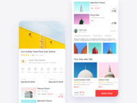 Hotel booking page