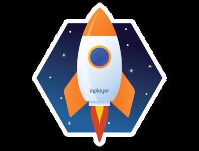Space sticker - Rocket! spaceship sticker rocket space vector illustration icon design graphic design