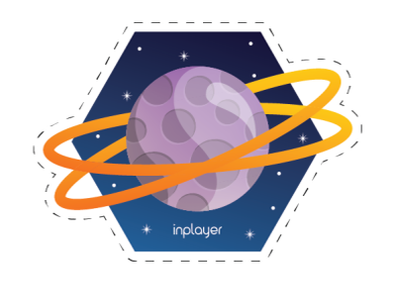 Space sticker - Planet! planet sticker space vector illustration design graphic design