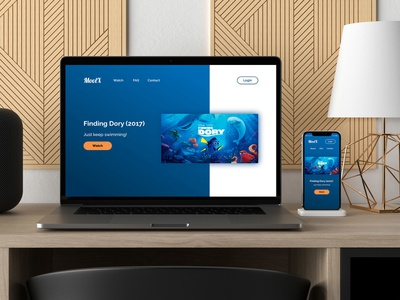 Finding Dory landing page web design