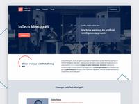 Landing page - InTech Meetup