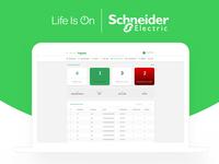 Schneider Dashboard Design UI/UX