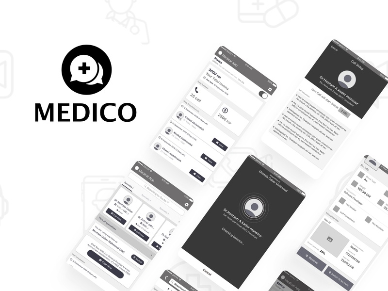 Medico App Interaction Design arabic ux challenge ux animation ux design ui pack ui interaction ux  ui ux app ui  ux design design interaction design mobile prototype sketch ui ui designer user interface user experience architecture web design wireframe
