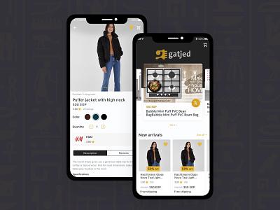 Gatjed Mobile App Design UI/UX android app arabic ux  ui ux design ux challenge ux animation ui pack ui interaction design