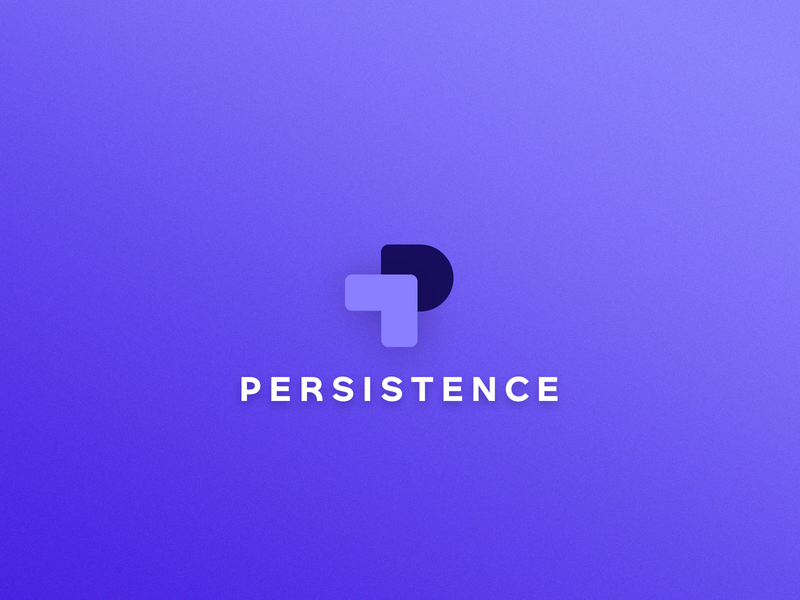 Logo Design - Persistence identity typography logo design concept simple clean interface colors branding simple purple minimal logo design logo logodesign