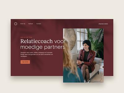 Therapist homepage header website therapist simple clean identity branding design flat colors minimal web design homepage header header design