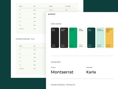 Arcady - style symbols web design palette ui identity design branding colors symbols style elements typography color palette