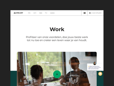 Arcady work page work page content page work ux ui minimal identity web design clean design branding header