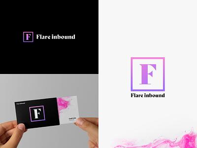 Flare Inbound Logo Design simple clean logo design colors colorful f identity brand bright minimal hubspot strategy branding purple pink inbound design logo