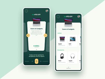 Onboarding app - Gadget app cards product app gadget green app green design ui design mobile app design app design mobile design onboarding app gadget app