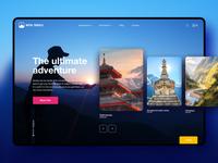 Nepal Travels - Trekking Hiking design UI concept