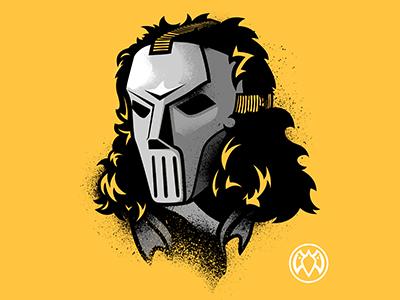 Casey Jones - Payback Penguin casey jones tmnt teenage mutant ninja turtles vector illustration grunge drawing hockey