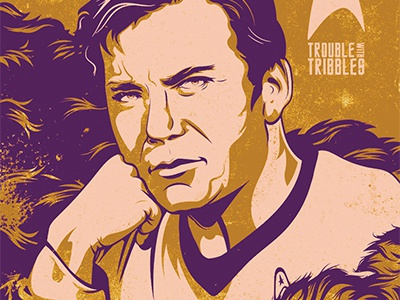 Poster Posse Star Trek 50th Poster posterposse poster vector space voyage williamshattner shattner captainkirk glamourshots startrek kirk tribbles