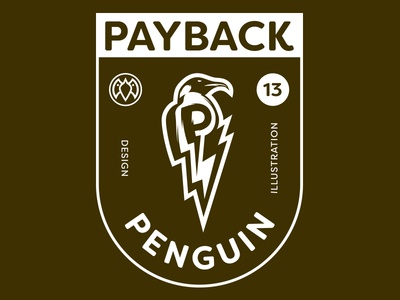 Payback Penguin Shield teeshirt shield mascot sports payback facepaint warrior ultimate warrior penguin logo