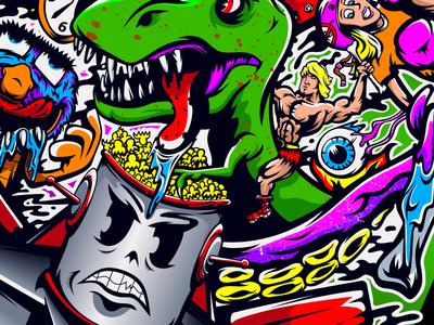 Design You Guys popcorn muppet skateboard tentacle he-man eyeball robot dinosaur