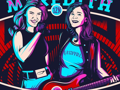 Meredith and Lauren's Blessed Tour 5 color vector microphone guitar women rock nashville tennessee music