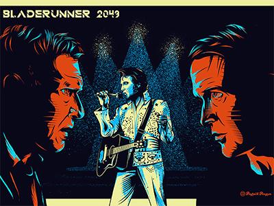 Bladerunner 2049 art scifi music las vegas ryan gosling harrison ford elvis poster bladerunner