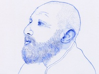 ballpoint pen portrait (with isopropanol) _2