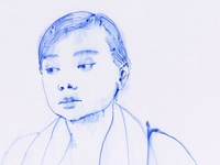 ballpoint pen portrait (with isopropanol) _3