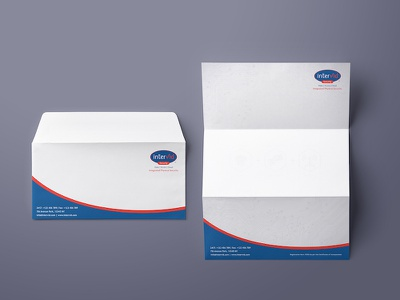 Envelope & Letterhead for Intervid Security designing graphics company stationery branding letterheads envelopes
