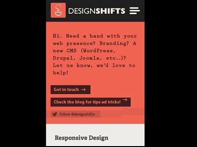 designshifts.com (mobile version) psd mobile website redesign