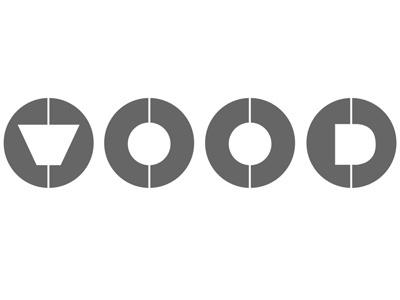 WOOD Skateboard Rings Logo logo design minimal