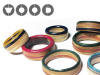 WOOD Skateboard Rings Logo 2