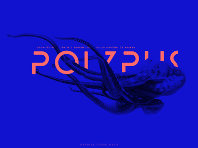 poster print design prints print typography design typography art typographic typography typogaphy poster a day poster design poster art posters poster blue octopus