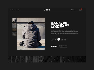 Mood Product Landing Page