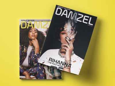 DAMZEL debut layout editorial publication magazine