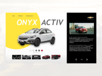 Chevrolet onix activ mini site
